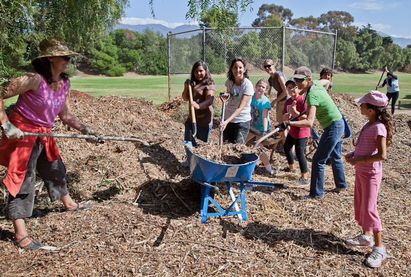 El Camino School Hosts A S Cool Garden Work Day Goleta