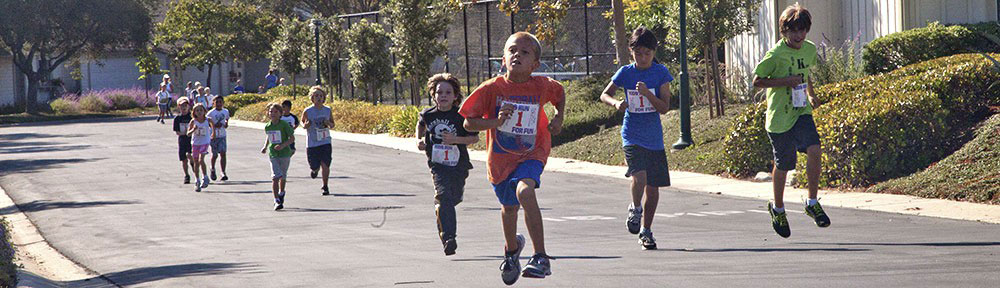 students participating in jog-a-thon
