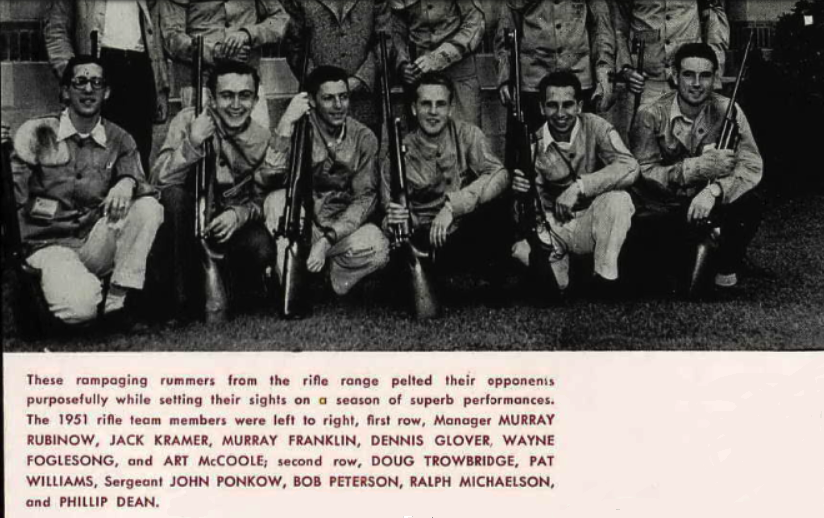 photo of UCSB rifle team including Jack Kramer
